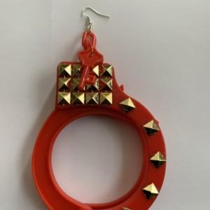 Red handcuff earrings