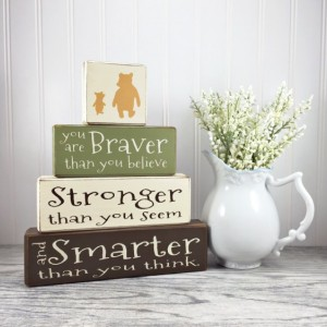 Winnie the Pooh - 4 piece - pooh - wood sign