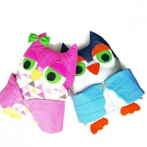 Owl pillow - owl decor - owl plush -kids pillow - pocket pillow - animal pillow - woodland pillow - stuffed owl - owl cushion - owl toy