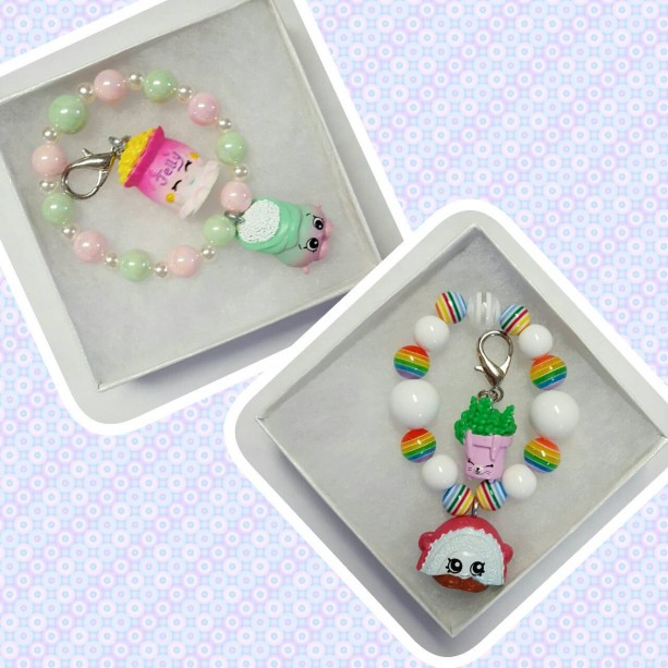 Shopkins Gift Set Bracelet & Zipper Pull Gift Box