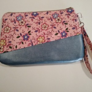 Pink Floral Clutch