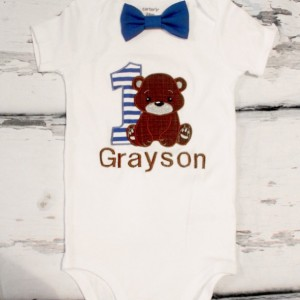 Boy first birthday Bear First birthday baby boy cake smash bear one year outfit teddy bear birthday outfit birthday shirt family shirts