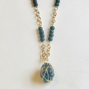 Druzy Wire Wrapped Necklace