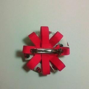 Set of 2 Handmade Polkadot Ladybugs Hairbow with matching Headband