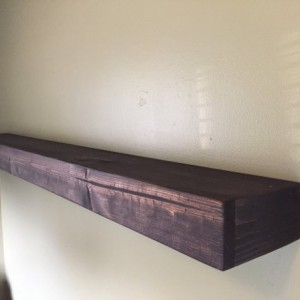 """Set of 2 - Large Rustic Style Floating Shelves - 60""""L x 7""""D - Custom Finish Avail- Hand Made"""