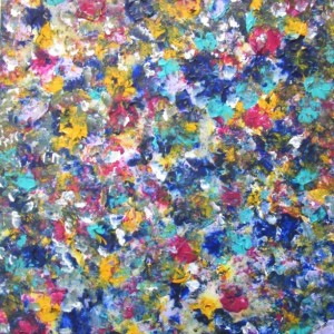 Large Splatter Art, 16 x 20 Modern Art, Abstract Floral Art, Colorful Living Room Art, Floral Acrylic Painting, Splatter Painting 16 x 20