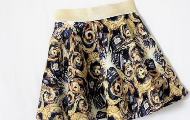 Dr. Who Exploding Tardis Skirt