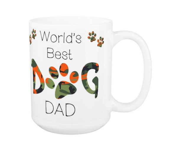 Dog Dad Coffee Mug 12A - Fathers Day Dog Mug - Worlds Best Dog Dad - Dog Lover Gift - Gift for Dad - Gift for Dog Lover - Pet Lovers