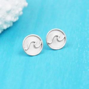 Wave Stud Earrings