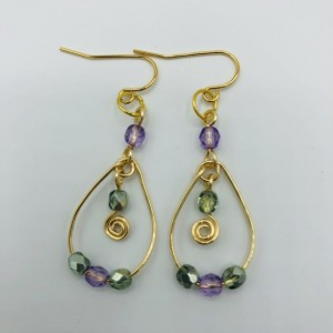 "1 1/2"" Looped Dangle Earrings"