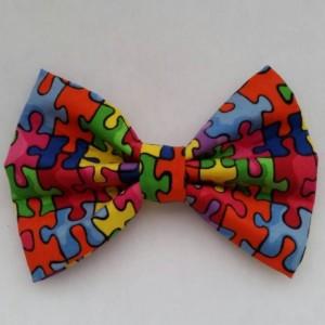 Autism Awareness inspired pet bow tie