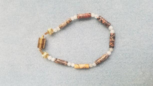 jasper stone bead bracelet
