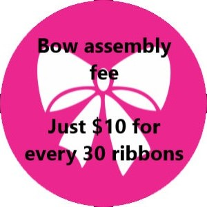 30 Personalized Ribbons  assembly fee