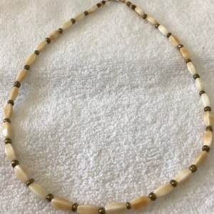 """Fantasy """"Ivory"""" handmade beaded necklace 19"""" long"""