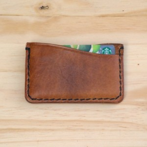 Leather Card Wallet, Leather Slim Wallet, Leather Minimalist Wallet, Leather Card Holder, Vegetable Tanned Leather Wallet, Gift Idea