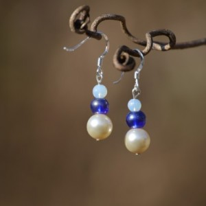 Tri Blue Earrings