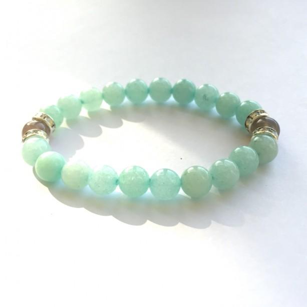 Quartzite & Agate Stretch Bracelet