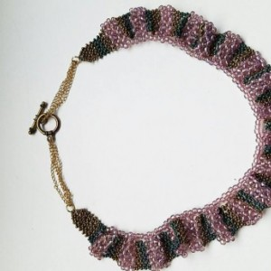Elegant Hand-Woven Beaded Necklace