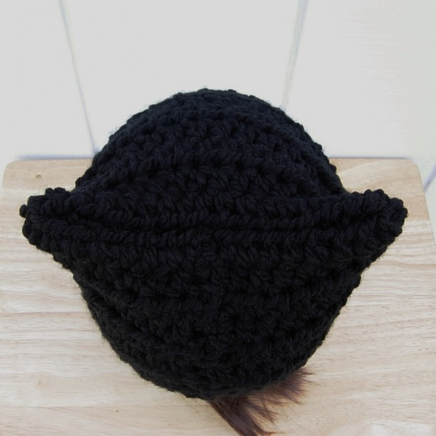 5bb99693160 Solid Black Soft Winter Pussy Cat Hat with Ears