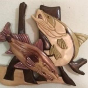 Intarsia Snook and Redfish
