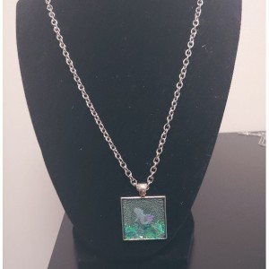 Transparent Bezel Mermaid Necklace