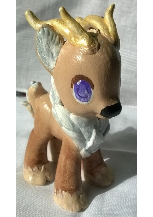 Custom OOAK My Little Pony Toy Figure: Gild the Reindeer