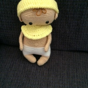 My Baby Doll with Hat –  Pastel Yellow