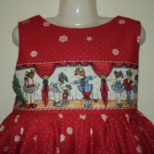 NEW Handmade Daisy Kingdom Nutcracker Sparkle Border Christmas Dress Custom Sz