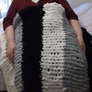 Handmade chunky blanket