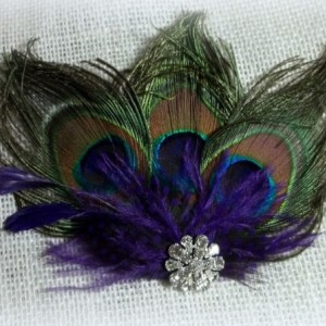 Peacock Hair Clip, Peacock Bridal Comb, Peacock Fascinator, Wedding Hair Clip, Wedding Accessories, Teal, Turquoise, Purple, Green, Bride