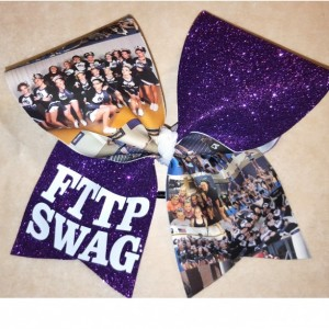 Custom photo cheer bow