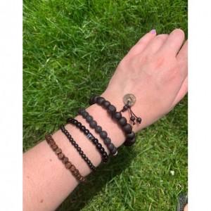 Mens Lava Stone Bracelet, Natural Lava Stone Healing Bracelet, Meditation Anxiety Stress Relief Bracelet, Mens Grounding Protection Bracelet