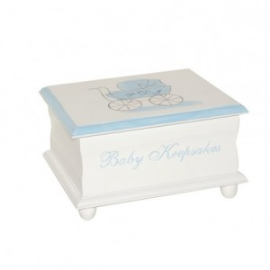 Baby Carriage Keepsake Memory Box personalized baby gift