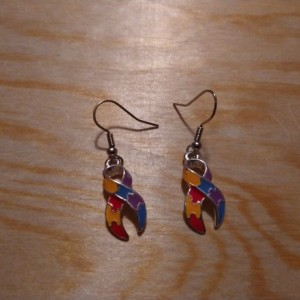 Autism ribbon earrings