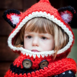Crocheted Foxy Hooded Cowl