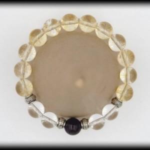 Citrine, Quartz and Amethyst Bracelet for Attracting Abundance