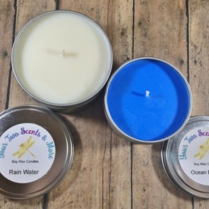 Candle Gift Set, Soy Wax Candle, Scented Soy Candle, Natural Soy Candle, Vegan Candle, Eco Friendly Candle, 8 Oz Candle Tin, 6 Oz Candle Tin