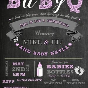 BabyQ Invitation, Baby Shower Invitation, Invitations, New Baby