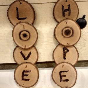 Love and Hope signs