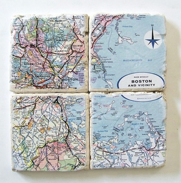 Boston Map Coasters