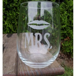 Mr. and Mrs.  Stem less Wine Glasses