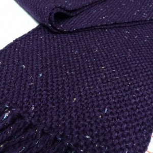purple sparkle: handwoven scarf