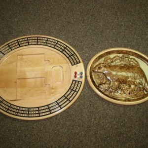 Badger 3 track oval cribbage board with storage