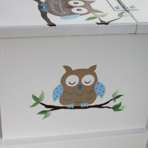 Owl Baby Keepsake Chest Box personalized baby gift