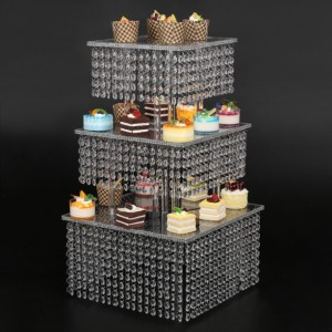 4 Tier Cupcake Stand - Parties Buffet Supplies for a Baby Shower, Birthday Party, Bridal Shower or Wedding