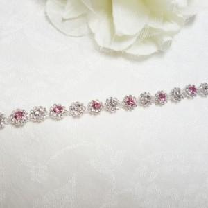 Pink/White Rosebud Shimmer Headpiece
