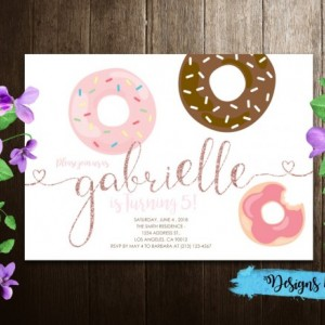 Donut Theme Party , Sweets Party, Dessert Party, Kids Birthday Printable Invitation