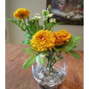 Flower Arrangement Marigold in Acrylic Water