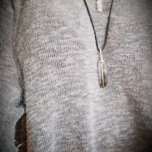 REFINED - Handmade Smoky Quartz Point Silver Wrapped Necklace