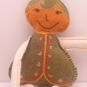 Pumpkin Forest Pixie Felt Natural stuffed doll Toy